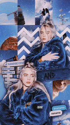 Ideas billie eilish aesthetic wallpaper blue for 2019 Billie Eilish, Wallpaper Aesthetic, Aesthetic Backgrounds, Aesthetic Collage, Blue Aesthetic, Wallpaper Series, Wallpaper Ideas, Unique Wallpaper, Nature Wallpaper