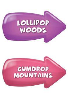 Image result for Printable Candyland Lollipop Woods Sign