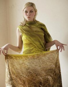 How awesome is this wheat dress? Kirsten Dunst photographed by David Armstrong for A Magazine #11