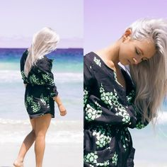 Get this look: http://lb.nu/look/7923888  More looks by Ciara Hinton: http://lb.nu/ciarafreshpony  Items in this look:  Sheinside Dark Green Challis Long Sleeve Designers Floral Pockets Dress   #bohemian #chic #romantic