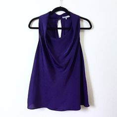 Violet & Claire draped sleeveless blouse. Gorgeous deep purple sleeveless blouse by Violet & Claire. A great addition to your work wardrobe! Violet & Claire Tops Blouses