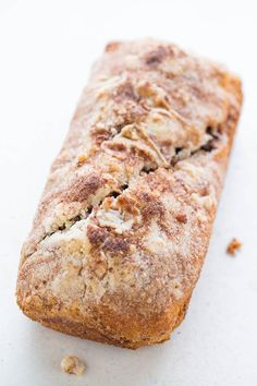Chocolate Rollup Bread - Like a cake roll but in bread form!! Stuffed with CHOCOLATE, topped with STREUSEL, and uses a timesaving shortcut! You're going to love this EASY no-mixer bread!!