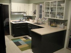 Apartment Kitchen Makeovers | DIY Kitchen Cosmetic Makeovers on Apartment Therapy
