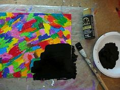 Make your own scratch paper...recommend adding a couple drops of dish soap to the black paint and mix well.  Helps prevent the paint from flaking while scratching.