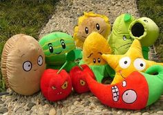Cute Stuffed Animals, Dinosaur Stuffed Animal, Zombie Party, Plants Vs Zombies, Haunted Mansion, Neymar, Plushies, Nerf, Kids Room