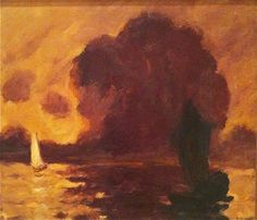 Emil Nolde, Evening Glow, Minneapolis Institute of Arts Nocturne, Landscape Art, Landscape Paintings, Emil Nolde, Landscaping Software, Archetypes, Art Techniques, All Art, Art History