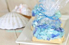 Sea glass candy recipe by 1 Fine Cookie, ocean, beach, desserts, recipes, blue, green, hard, candy, edible, party, wedding, ideas, sand, cake, cookies, pina colada, flavoring, flavor, sweets, themed, turquoise, white, light, starfish, cake, chocolate, graham cracker, recipe, tutorial, summer, dessert, table, celebration, goodie, bag, boil, sugar, americolor, how to make,