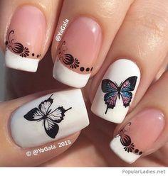 Sweet butterfly manicure
