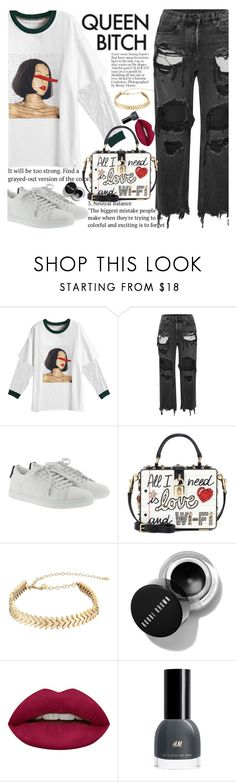"""Untitled #2547"" by anarita11 ❤ liked on Polyvore featuring Alexander Wang, Yves Saint Laurent, Dolce&Gabbana, Rebecca Minkoff and Huda Beauty"