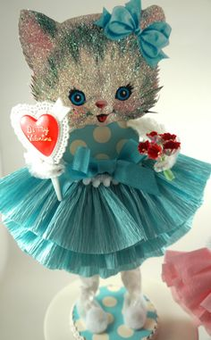 Retro Kitty Valentine by SparkleLovesWhimsey on Etsy, $20.00