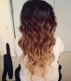 Ombre styled hair- Brown to blonde