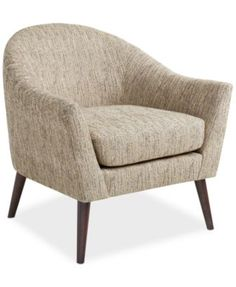 Collin Fabric Accent Chair, Direct Ship - so i'm going away from armless. i'm loving that this is a bit funky