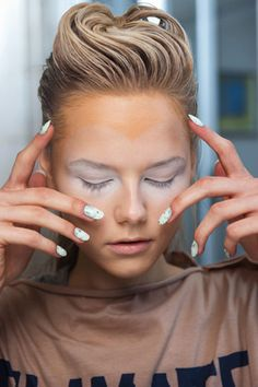 Vivienne Westwood Spring 2013 Nails #beauty #nails