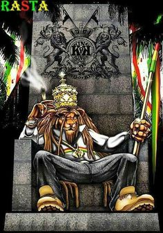 Rasta Lion Wallpaper is part of Rastafari art - Rasta Art, Rasta Lion, Caricature Art, Rastafari Art, Arte Do Hip Hop, Reggae Art, Marijuana Art, Lion Wallpaper, Stoner Art