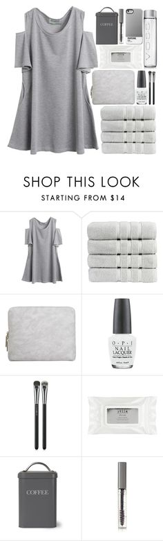 """❤️The monsters running wild inside of me❤️"" by dreamcloset1996 ❤ liked on Polyvore featuring Christy, 3.1 Phillip Lim, OPI, MAC Cosmetics, Stila, Garden Trading and BBrowBar"