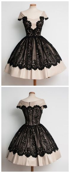 Black lace Homecoming Dress,Cap Sleeves Homecoming Dress,Popular Homecoming Dress, Junior Homecoming Dress,Graduation Dress , Homecoming Dress ,Prom Dress for Teens
