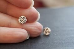 simple chevron earrings, so cute!!