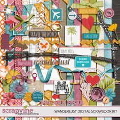 Wanderlust Digital Scrapbooking Kit | ScrapVine
