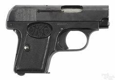 Fabrique Nationale Model 1906 semi-automatic pistol, mm, barrel, serial C & R 32 Acp, Cartouches, Pocket Pistol, Revolvers, Firearms, Hand Guns, Weapons, Auction, Model