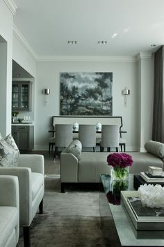 room: Dining Room, Contemporary room by jamesthomas, LLC _ nice balance of dining and living space