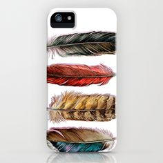 Country Feathers iPhone & iPod Case by Jody Edwards Art - $35.00
