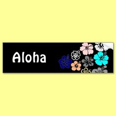 Mixed Hibiscus designs Bumper Stickers by thehibiscus