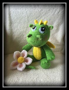 Drago- crocheted baby dragon- crocheted animals- mystical- dragons-crocheted toys- Find it on etsy @memawscountrycrafts