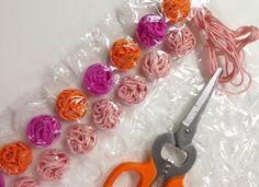 Art Projects for Kids: Bubblewrap + Yarn