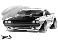 70 Challenger TA Rendering Pro Touring Street Machine Hemi Rocket Bunny Andreas Hoås Wennevold