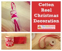 Cotton Reel Christmas Decorations for Children To Make