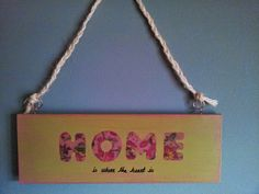 Home Vintage Plaquette handmade by Funky-Junk Funky Junk, Vintage Crafts, Handmade Items, Handmade Gifts, Craft Items, Creative Crafts, Art Pictures, Gift Tags, Picture Frames