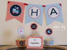 INSTANT DOWNLOAD Train Birthday Banner Printable Happy