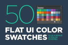 50 Flat UI color swatches by BlackLabel on Creative Market