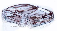 Mercedes-Benz E-Class Coupe - Design Sketch