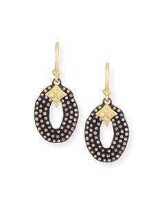 Armenta New World Crivelli Earrings w/ Diamonds IRDelt