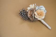 DIY paper flower boutonniere