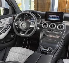 Interior of the new Mercedes-Benz GLC Coupé.