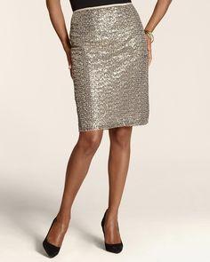Sequin Pencil Stephanie Skirt
