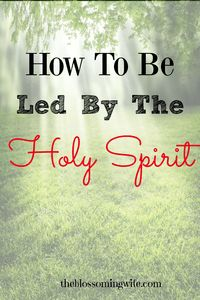 The Holy Spirit is inside of us and God is leading us to do His will but we must have ears that hear what He is saying.