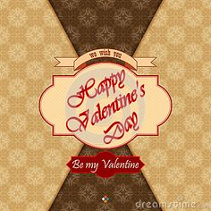 Happy Valentine s Day background with Be my valentine text