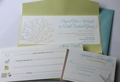 The Ingrid Tropical Coral Destination Wedding by greenquince, $300.00