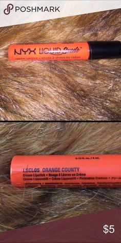 NYX Liquid Suede Color Orange County NYX Makeup Lipstick