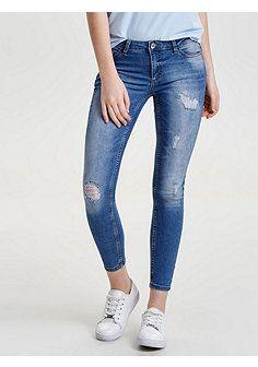 Zerrissene Slim Fit Jeans für Damen Destroyed Legging Long Pants Faltbare Hose