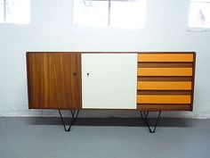 Stunning Small Upcycled SIDEBOARD / Cabinet * Teak Vintage Retro Walnut | eBay