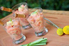 Tartar de salmão, aperitivo rápido e gostoso!