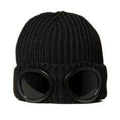 C.P. Company Goggle Beanie (Black)