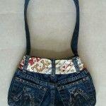 blue jean purse craft