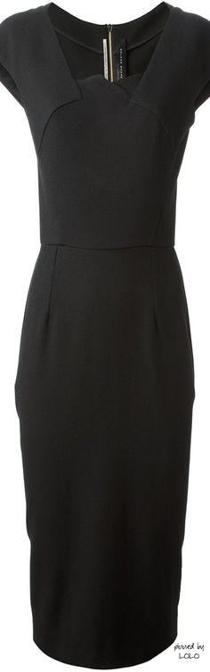 Roland Mouret Black Crepe Hirta Dress