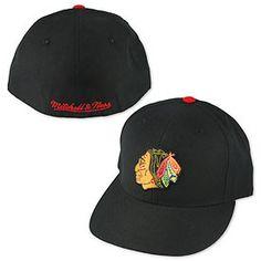 Get this Chicago Blackhawks Black Vintage Logo Fitted Cap at WrigleyvilleSports.com