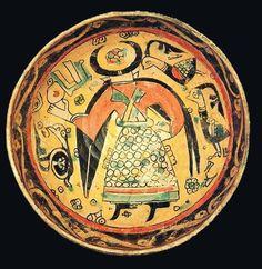 Iran, Nishapur, 10th century ceramic bowl.  Source: https://www.facebook.com/VirtualMuseumOfIranArt